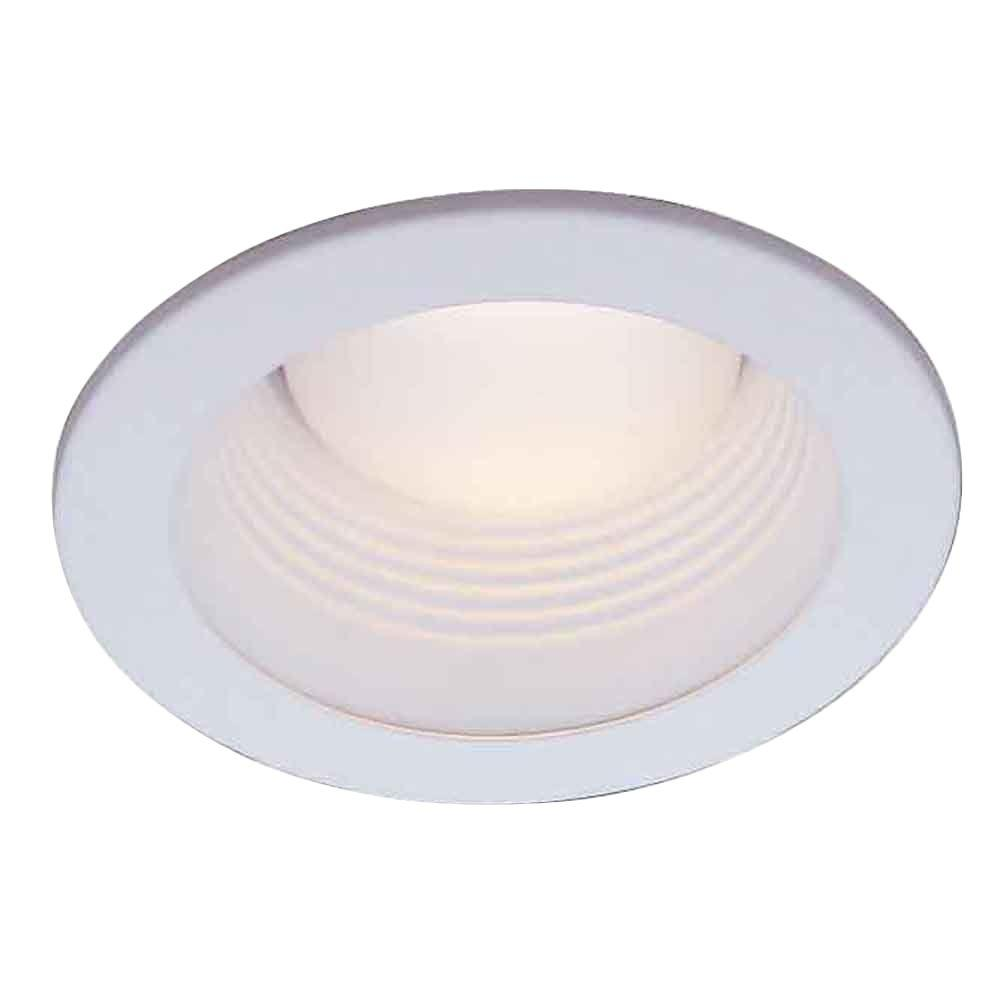 White Recessed Baffle Trim  sc 1 st  Home Depot : recessed trim lighting - www.canuckmediamonitor.org