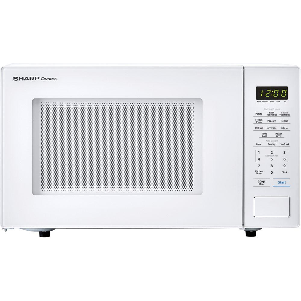 Sharp Carousel 1.1 cu. ft. Countertop Microwave in White