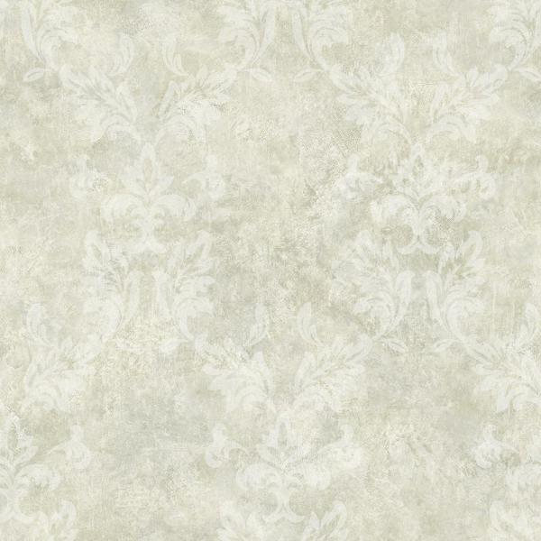 Brewster Bentley Grey Damask Wallpaper ARB67574
