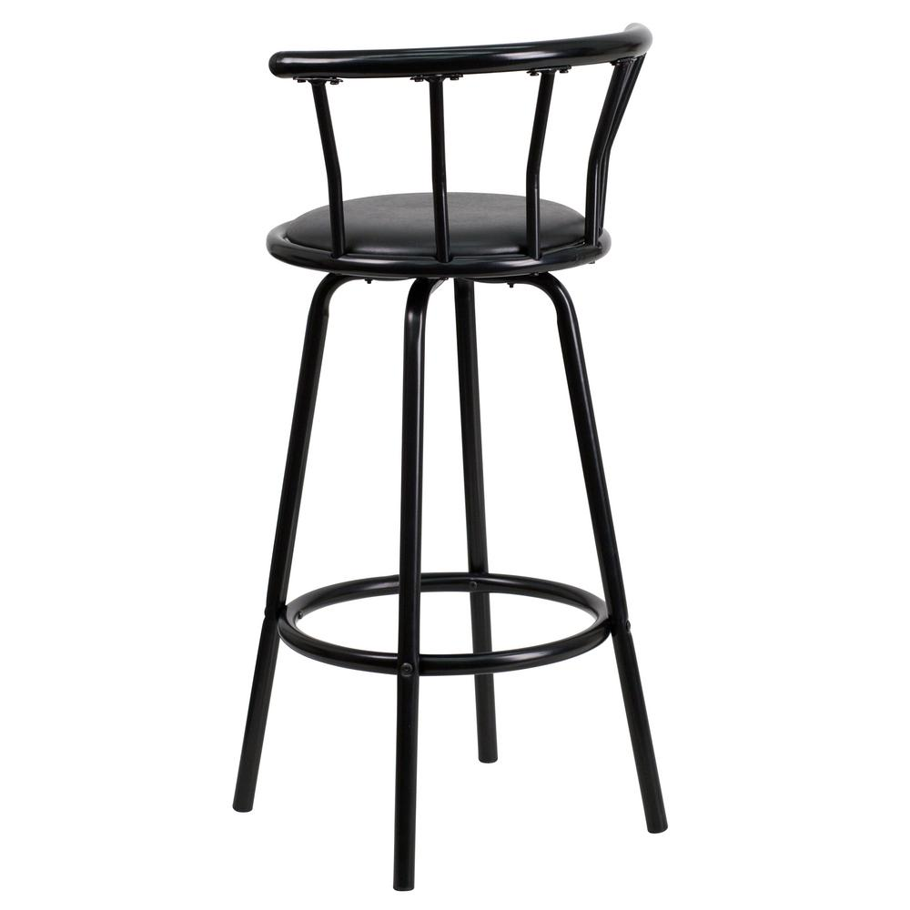 Groovy Carnegy Avenue Crown Back Black Metal 30 In Barstool With Beatyapartments Chair Design Images Beatyapartmentscom