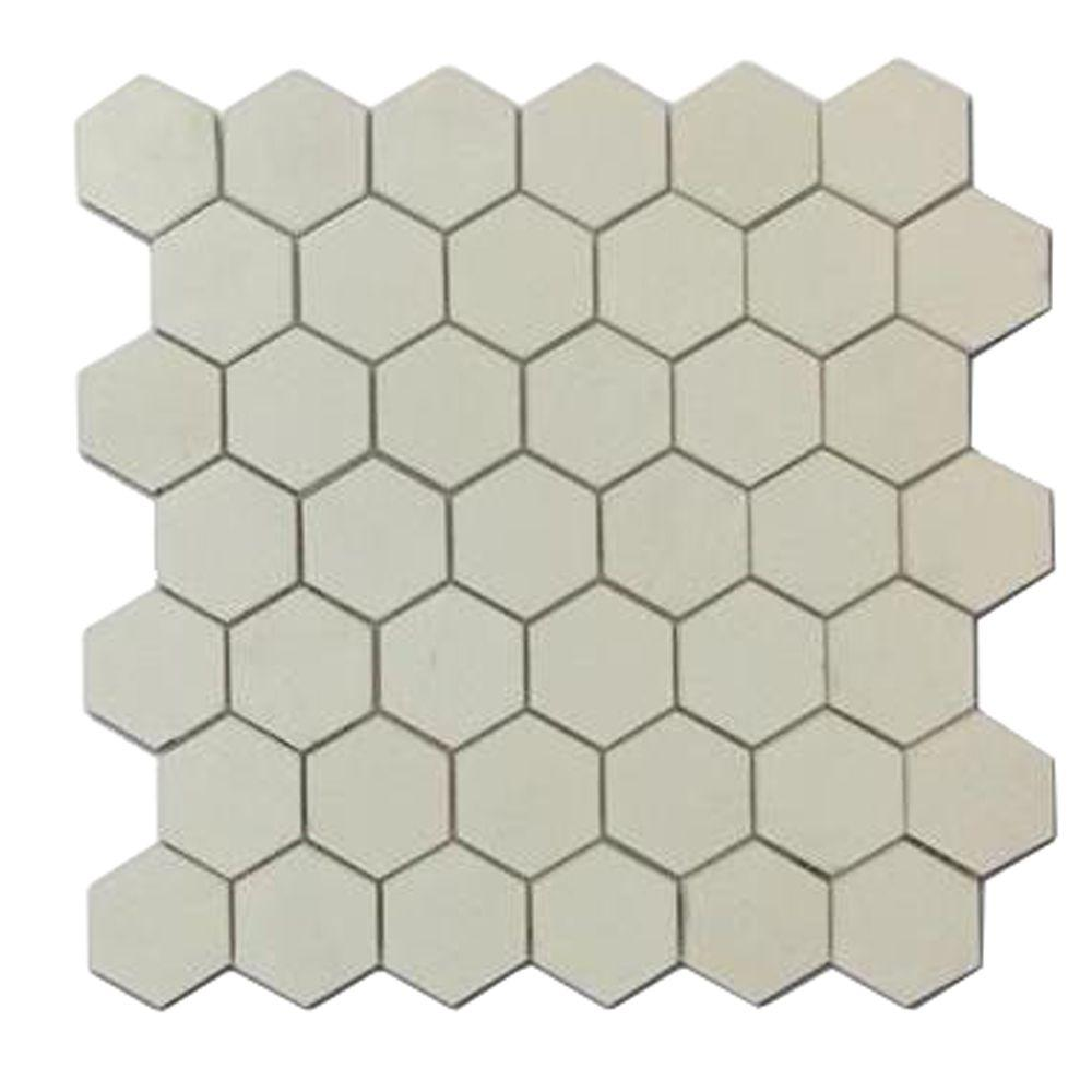 Hexagon Mosaic Marble Floor Tile Flooring Compare Prices At Nextag