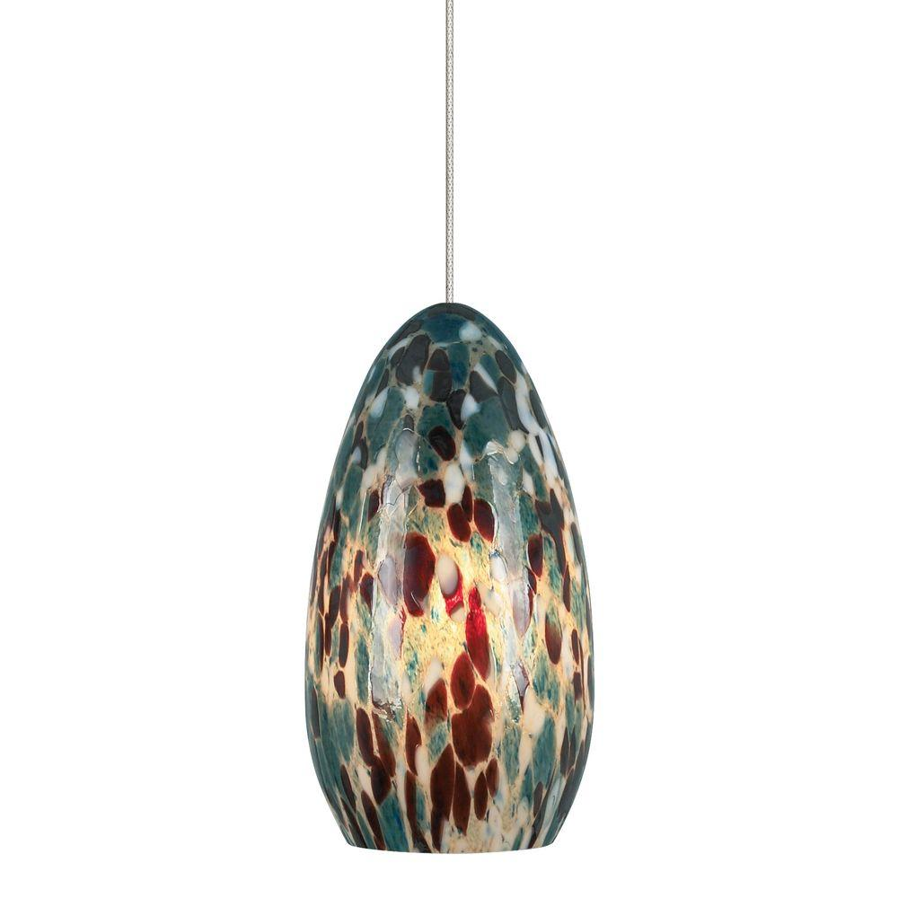 Lbl lighting banja 1 light satin nickel aqua led hanging mini lbl lighting banja 1 light satin nickel aqua led hanging mini pendant mozeypictures Images