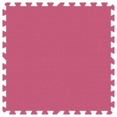 Pink 24 in. x 24 in. Comfortable Mat (100 sq.ft. / Case)