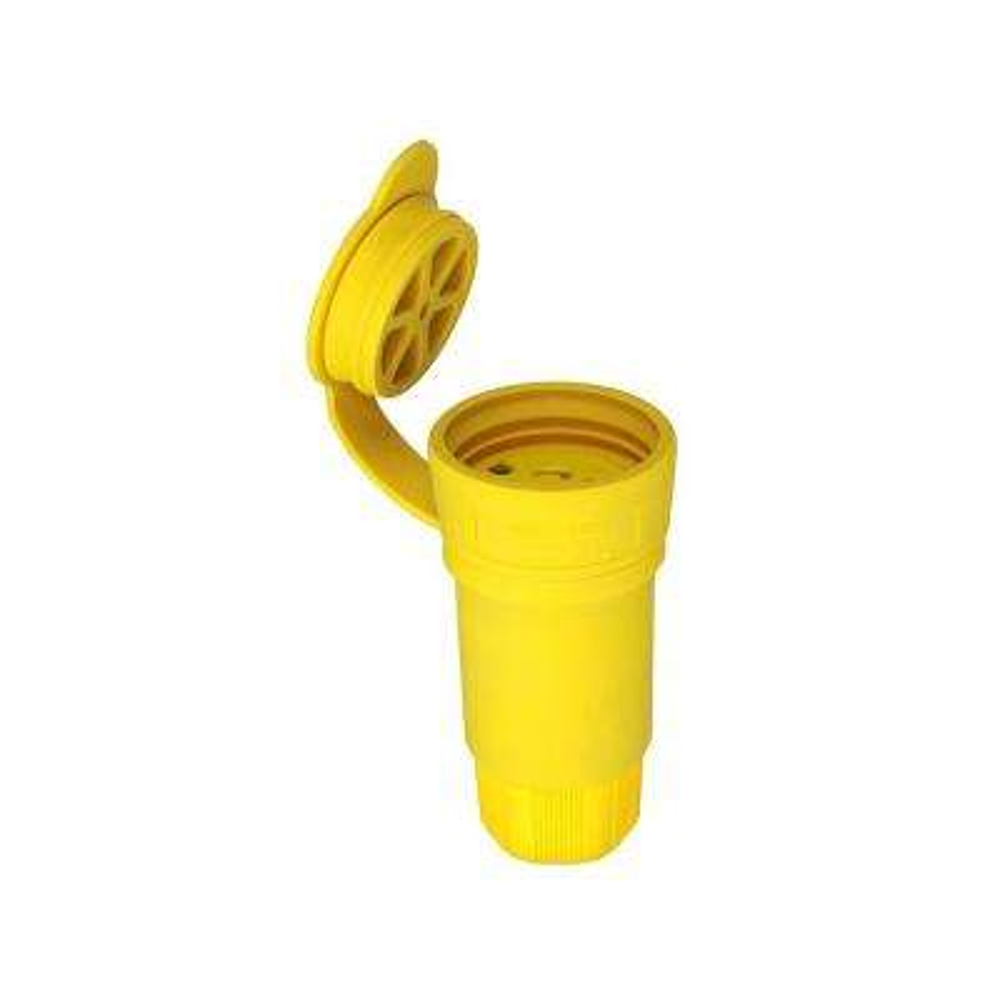 30 Amp 480-Volt Hart-Lock Watertight Connector, Yellow