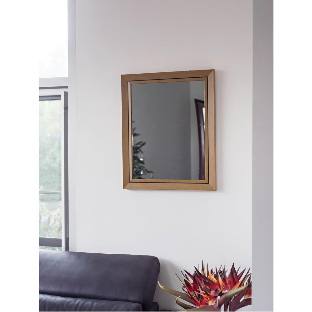 23.75 in. x 19.75 in. Yellow Stone Wash Mirror