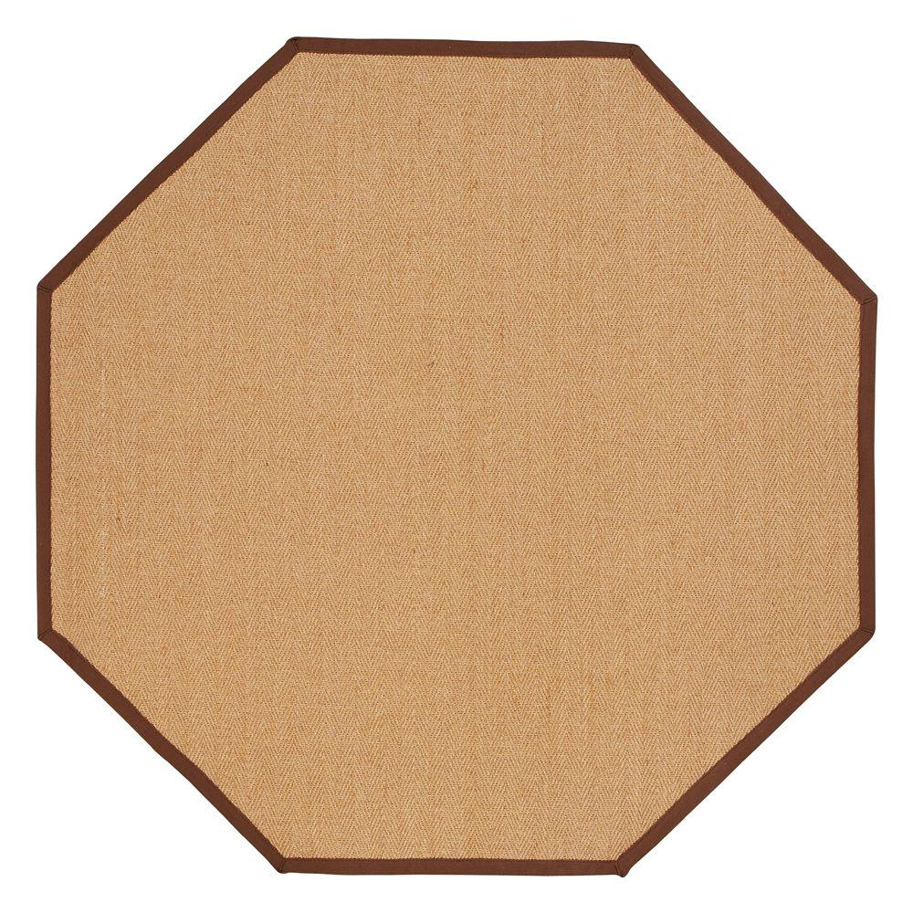 Home Decorators Collection Marblehead Brown 6 ft. Octagon Area Rug