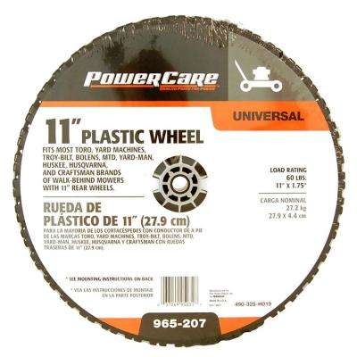 11 in. x 1.75 in. Universal Plastic Wheel for Lawn Mowers