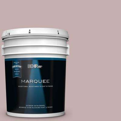 5 gal. #MQ1-45 Versailles Rose Satin Enamel Exterior Paint and Primer in One