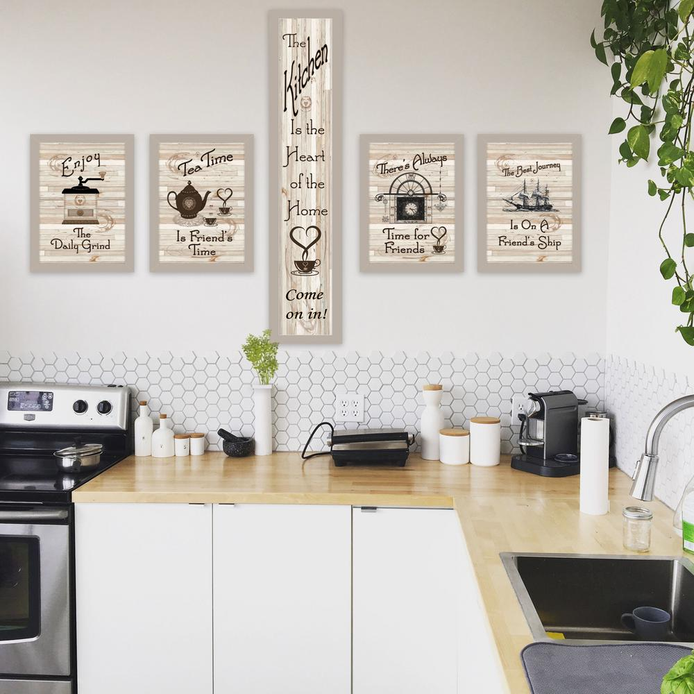 Trendy Decor 4u Kitchen Friendship Collection By Millwork Engineering Framed Wall Art V426 779ss The Home Depot