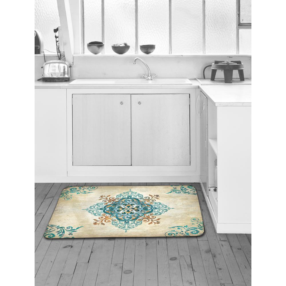 Home Dynamix Designer Chef Blue Arabesque 24 in. x 36 in. Anti ...