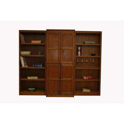 3-Piece Dry Oak Wall and Storage System (15-Shelves)