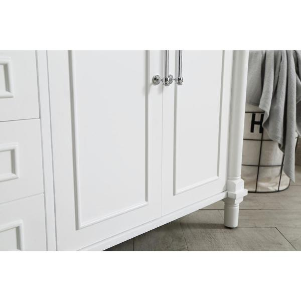Home Decorators Collection - Aberdeen 72 in. W x 22 in. D Bath Vanity in White with Carrara Marble Top with White Sinks