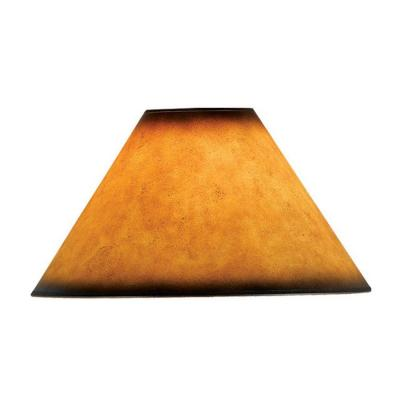 16 in. Brown Leatherette Shade