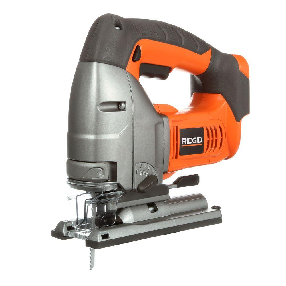 Ridgid 18 volt x4 cordless jig saw console r8831b the home depot ridgid 18 volt x4 cordless jig saw console greentooth Gallery
