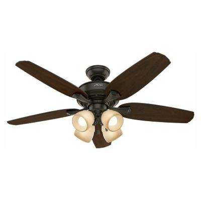 Channing 52 in. LED Indoor New Bronze Ceiling Fan with Light Kit