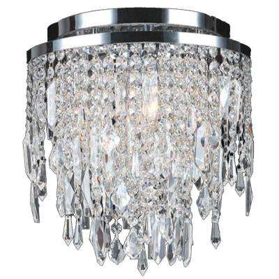 Tempest Collection 4-Light Chrome Crystal Ceiling Flush Mount