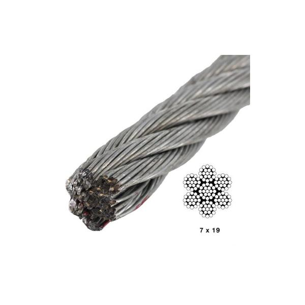 """TCH Hardware 10 Pack Steel Looped Aircraft Cable 8/"""" Long Galvanized Wire Rope"""