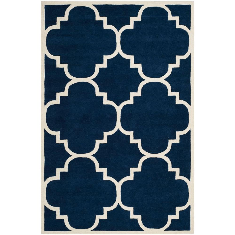Safavieh Chatham Dark Blue/Ivory 6 ft. x 9 ft. Area Rug