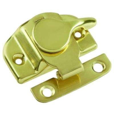 Cam Action Polished Brass Clamp-Tight Sash Window Lock