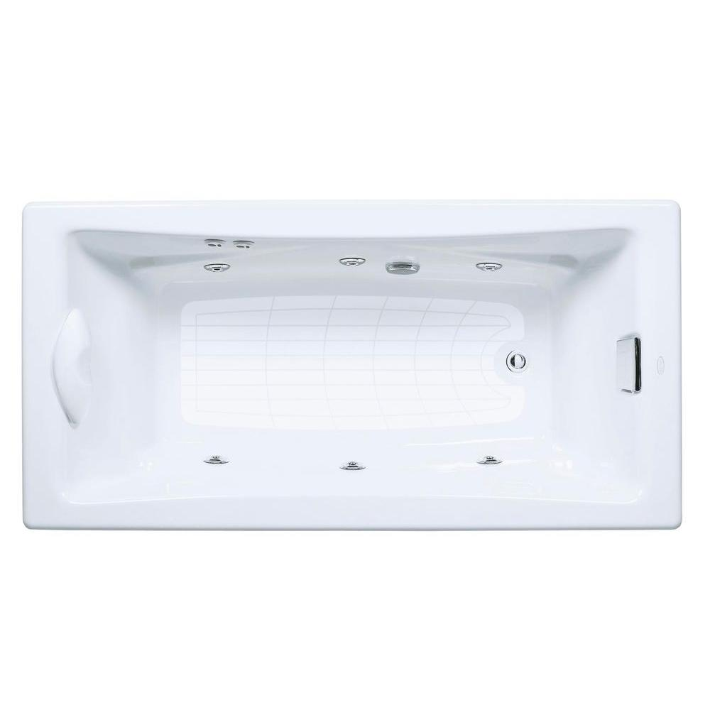 KOHLER Tea-For-Two 6 ft. Whirlpool Tub with Reversible Drain in ...