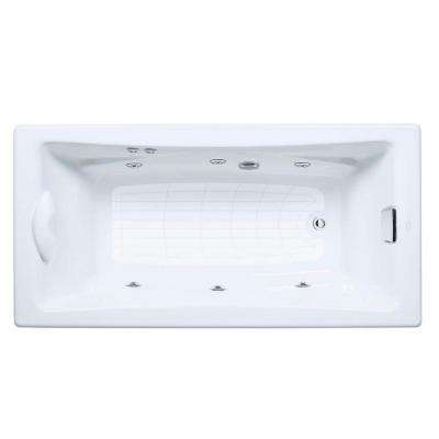 Tea-For-Two 6 ft. Whirlpool Tub with Reversible Drain in White