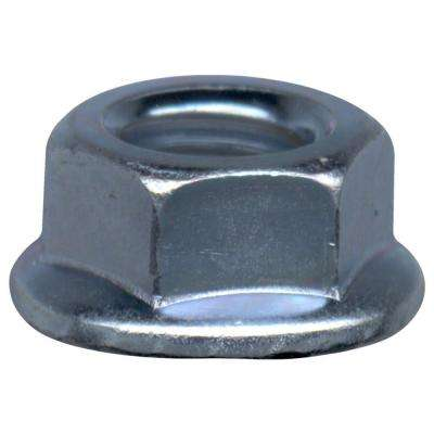 7/16-14 Zinc-Plated Steel Serrated Lock Nut