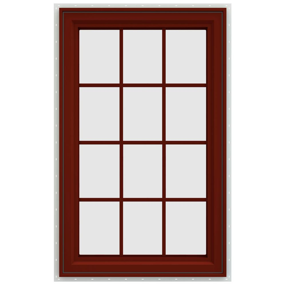 Jeld wen 29 5 in x 47 5 in v 4500 series left hand for Best window treatments for casement windows