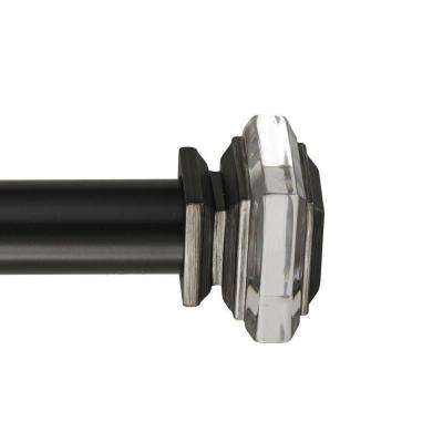 28 - 48 in. Telescoping Single Curtain Rod Kit in  Oil Rubbed Bronze with Lalique Finials