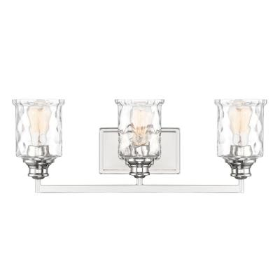 Drake 3-Light Polished Nickel Bath Bar Vanity Light