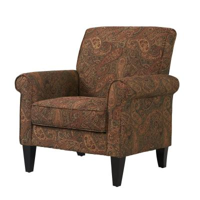 Fine Handy Living Jean Paisley Multicolored Paisley With Burgundy Cjindustries Chair Design For Home Cjindustriesco