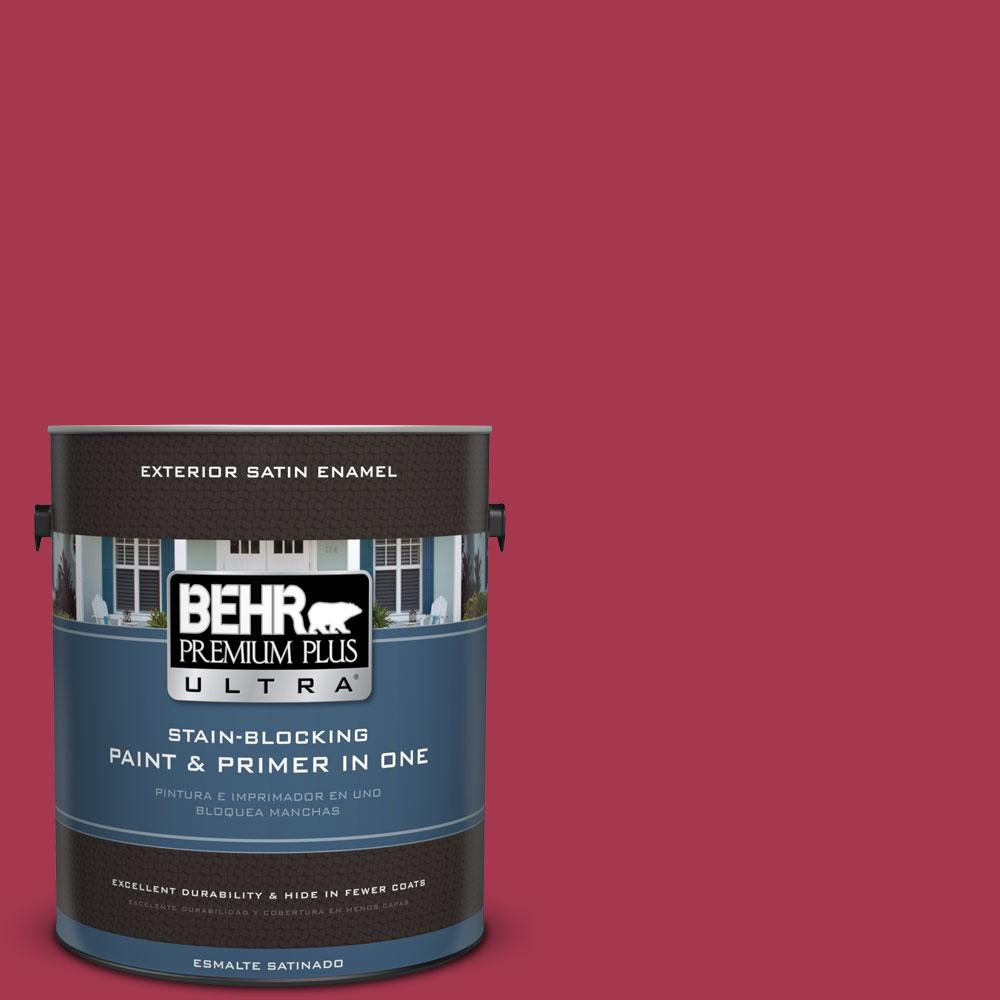 BEHR Premium Plus Ultra 1-gal. #S-G-120 Strawberry Daiquiri Satin Enamel Exterior Paint