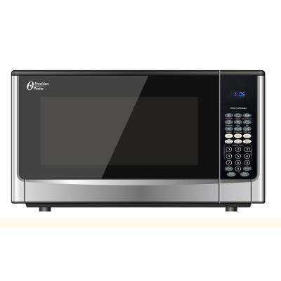 1.6 cu. ft. 1100-Watt Countertop Microwave Stainless Steel with Push Button