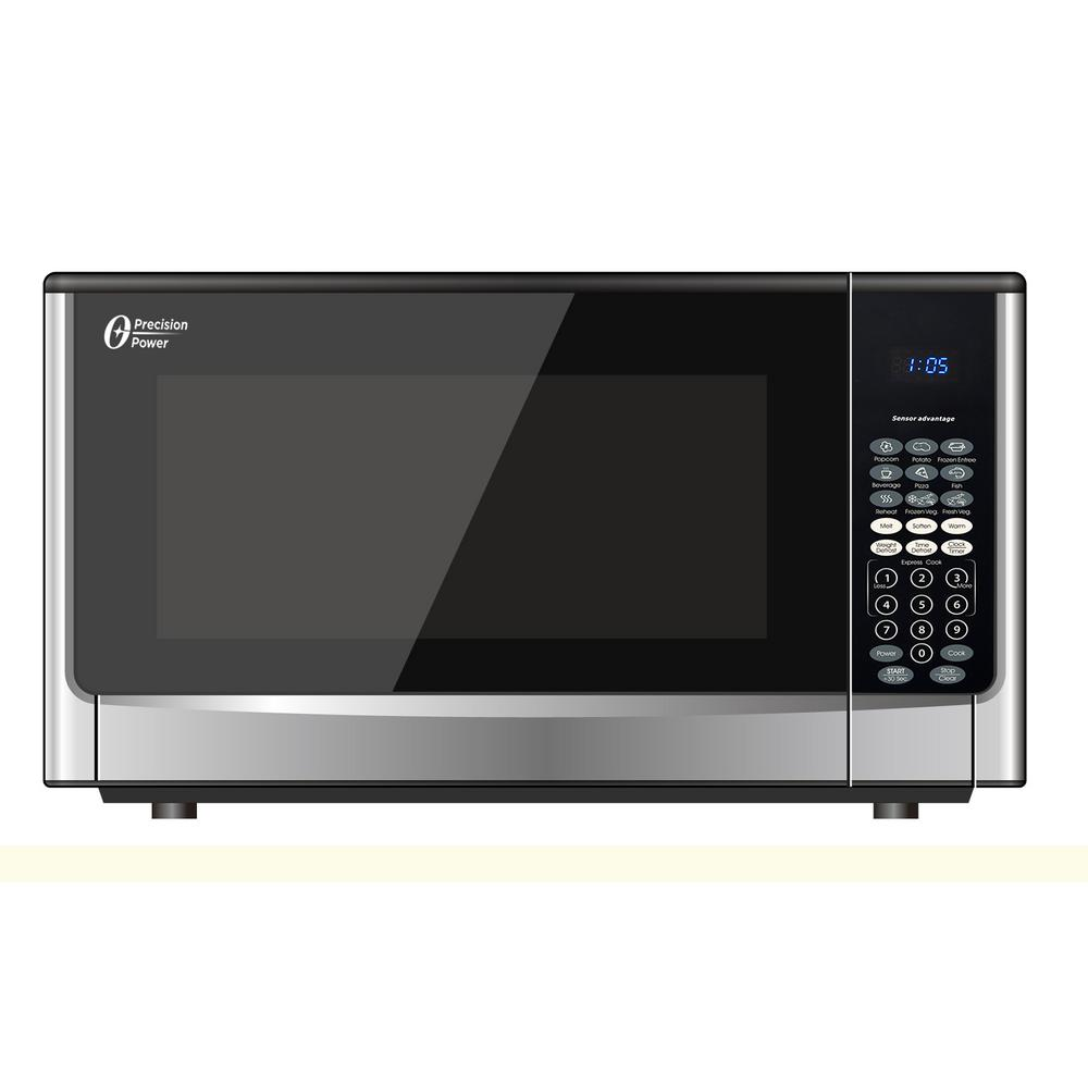 Oster 1.6 cu. ft. 1100-Watt Countertop Microwave with Inverter Sensor Cook Technology in Stainless Steel
