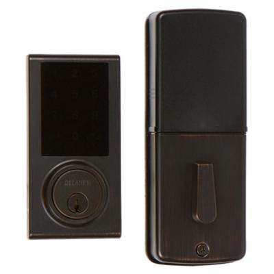 Tuscany Bronze Touchscreen Z-Wave Smartlock Single Cylinder Deadbolt