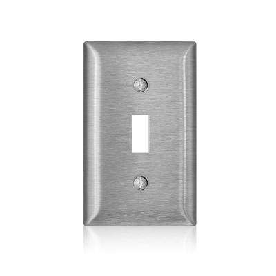1-Gang C-Series Toggle Switch Wallplate, Standard Size, Magnetic Stainless Steel