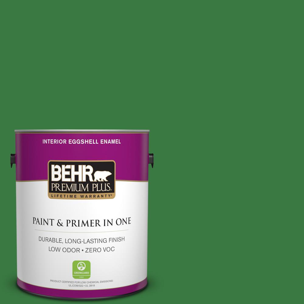 BEHR Premium Plus 1-gal. #M390-7 Hills of Ireland Eggshell Enamel Interior Paint