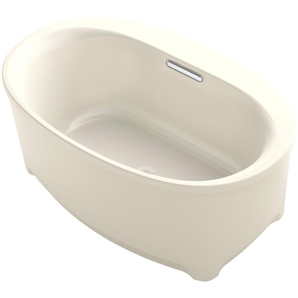 KOHLER Underscore 5 ft. Acrylic Flat Bottom Non-Whirlpool Bathtub ...