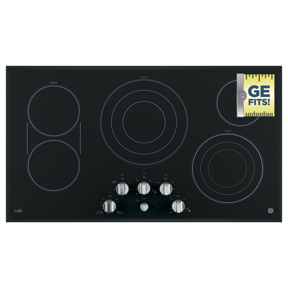 36 in. Radiant Electric Cooktop in Stainless Steel with 5 Elements