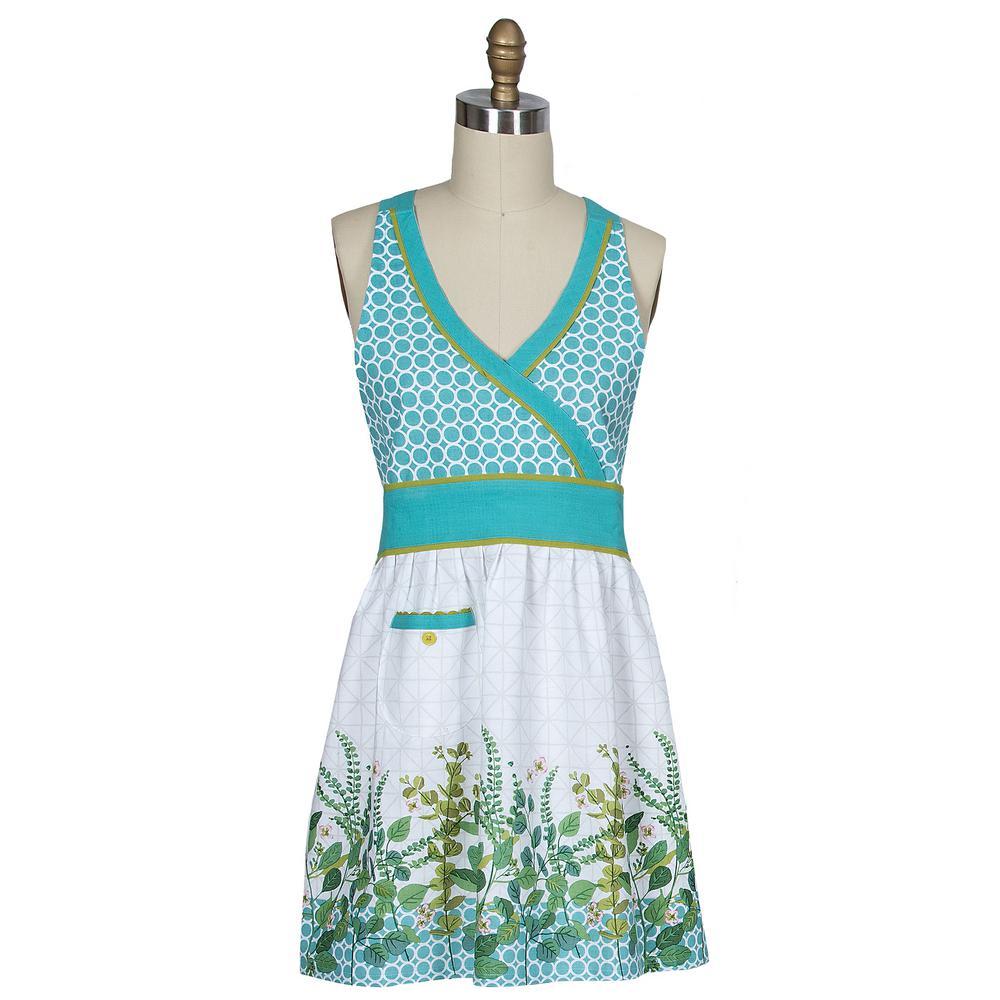 Greenery Multi Cotton Hostess Apron