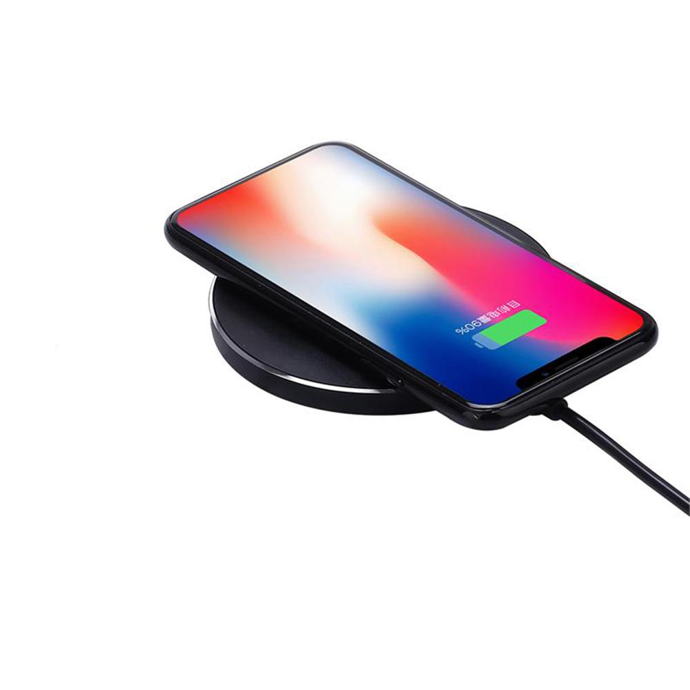 proHT proHT 10-Watt Qi Enabled Wireless Charger Pad in Black