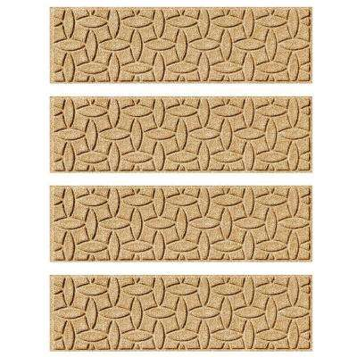 Gold 8.5 in. x 30 in. Ellipse Stair Tread Cover (Set of 4)