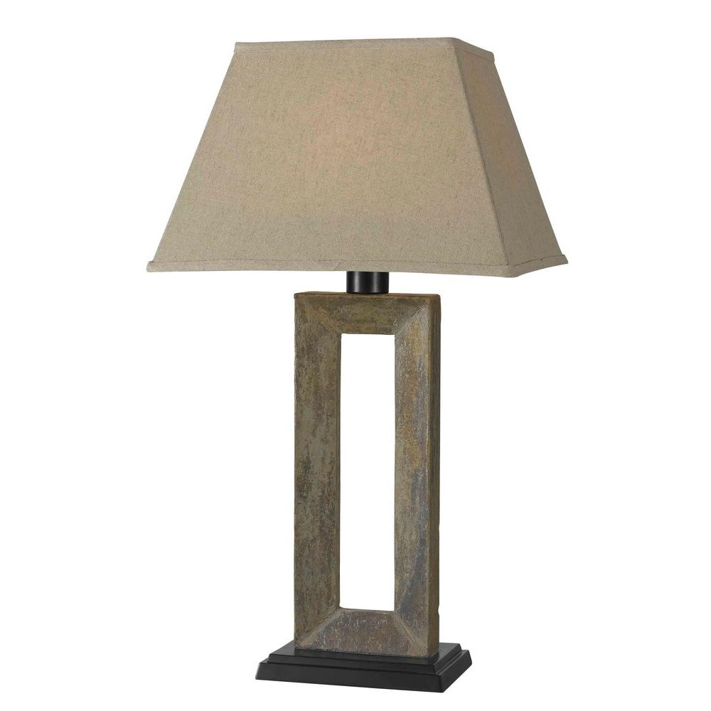 Charming Natural Slate Outdoor Table Lamp