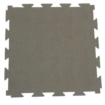 Terra-Flex 1/4 in. x 24 in. x 24 in. Light Tan Interlocking Rubber Mat (5-Pack, 20 sq. ft.)