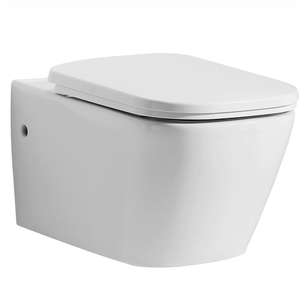 EAGO Elongated Toilet Bowl Only in White