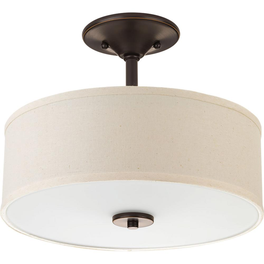 Progress Lighting Inspire Collection 3 Light Antique: Progress Lighting Inspire 2-Light Antique Bronze Semi
