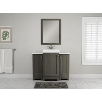 Shaila 24 in. x 31 in. Single Framed Vanity Mirror in Silverleaf