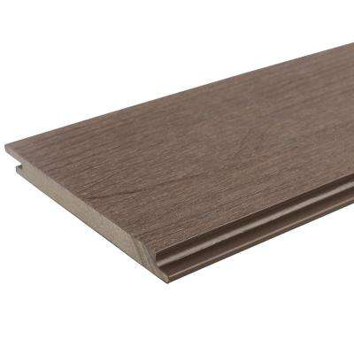 All Weather System 5.5 in. x 96 in. Composite Siding Board in Spanish Walnut
