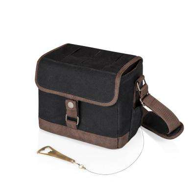 Beer Caddy Black and Brown Cooler Tote with Opener