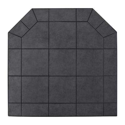 American Classics 48 in. Type 2 Black Jack Tile Hearth Pad