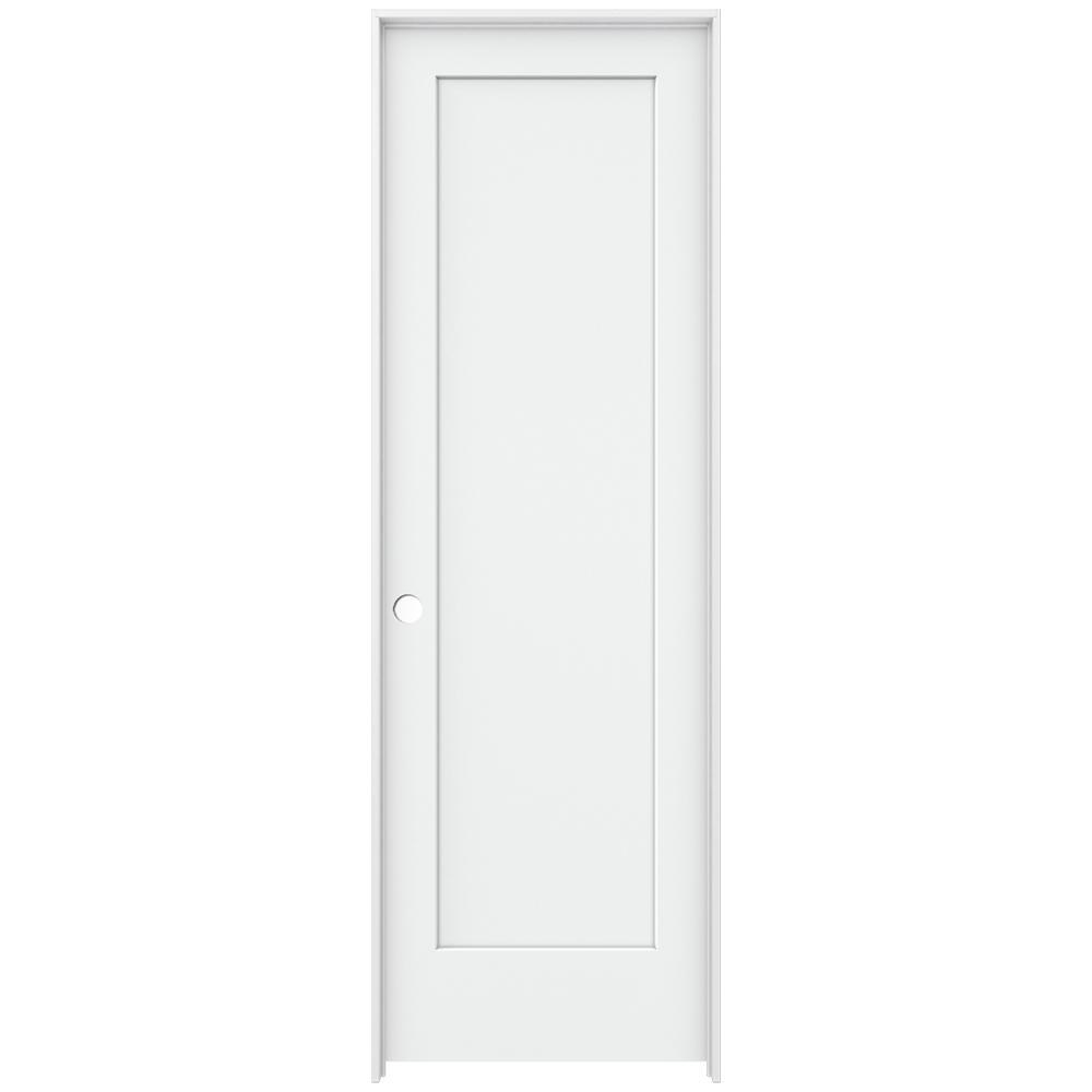 Jeld Wen 32 In X 96 In Madison White Painted Right Hand Smooth Solid Core Molded Composite Mdf